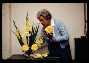 Mutti arranging flowers